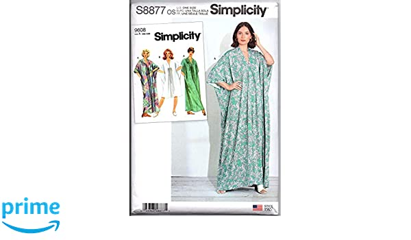 Simplicity Sewing Pattern S8877 Misses/' Caftan In Two Lengths Size XS-XL *New*