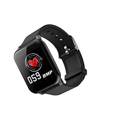 Amazon.com: 1.3 inch Color Screen Bracelet Heart Rate Blood Pressure Monitoring Waterproof Sports Information Call Reminder Smart Bracelet (Black): Cell ...