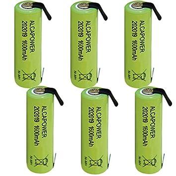 Pack de 6 pilas recargables Batería Ni-MH AAA 1,2 V 1500mAh T. de soldar (-Paquete de 6 pilas): Amazon.es: Electrónica