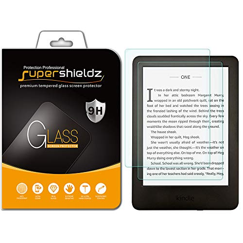 (2 Pack) Supershieldz for All-New Kindle (10th Generation 2019), Kindle E-Reader (8th Generation) and Kindle Paperwhite (7th Generation) Tempered Glass Screen Protector, Anti Scratch, Bubble Free