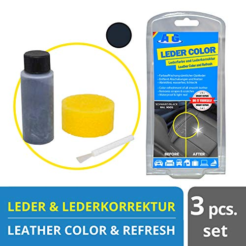 ATG Leather Color Restoration Black | Remove Scratches, Abrasions, Wear | Leather Conditioner for Furniture | Leather, Synthetic Leather | Leather Conditioner | Leather Repair Cream