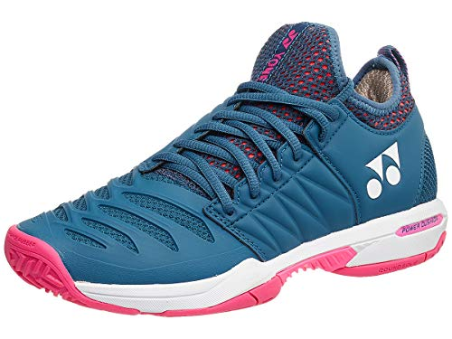 YONEX Power Cushion Fusion Rev 3 Women's Tennis Shoe, Navy/Pink (Size 6.5)