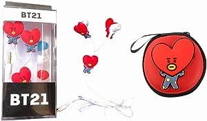 Auriculares de bts rojos de corazon