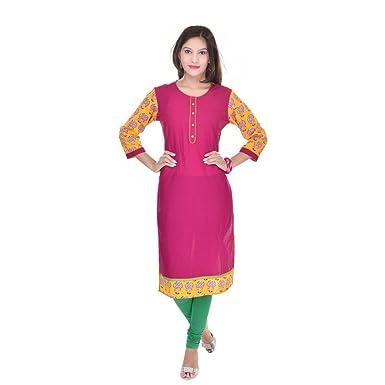 aa1e525ff98 Vihaan Impex Indian Kurtis for Women Kurti Kurtas for Women Bust Size 40  Inches Pink Kurti