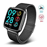 TECKEPIC Fitness Tracker, IP67 Waterproof Activity Tracker with Magnetic Wristband, 24H Real-Time Heart Rate Monitor, Pedometer, Blood Pressure and Sleep Monitor for Women, Men and Kids
