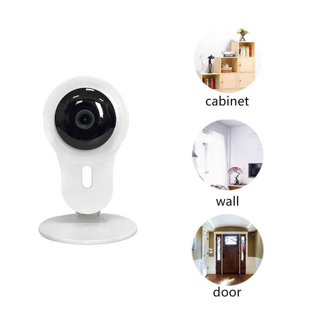 IP Kamera,IR Sicherheitskamera mit Alarm,Plug & Play Mini Kamera,Remote Access,Drahtlose Wlan Innenkamera,180°Überwachungskamera mit 720P HD,drahtlose HD-Überwachungskamera