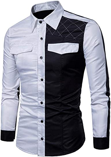 Camisas Casual Hombre Manga Larga, Covermason Trajes de Hombres Slim Fit tee Blouse: Amazon.es: Ropa y accesorios