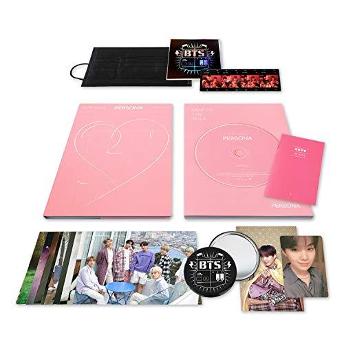 MAP OF SOUL : PERSONA [ 2 Ver. ] BTS Album CD + Photobook + Mini Book + Photocard + Postcard + Photo Flim + OFFICIAL POSTER + FREE - Album 2 Inch