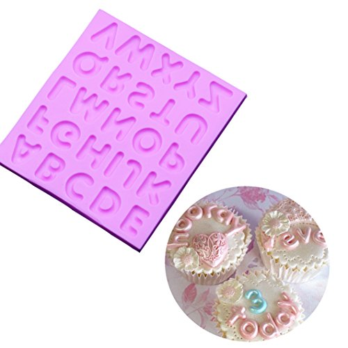 Alphabet Letter Silicone Fondant Mould Cake Fondant Mold Cake Decoration Tools Soap Candle Moulds (Style 1)