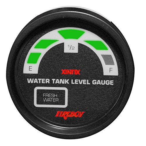 Holding Tank Level Gauge (Fireboy-xintex LLM-1-F-RP Holding Tank Display Round 2 in. Gauge Fit For 1 Fresh Water Tank)