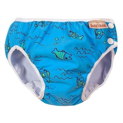 Imse Vimse Swim Diaper Turquoise Fish S 11-17 lbs.