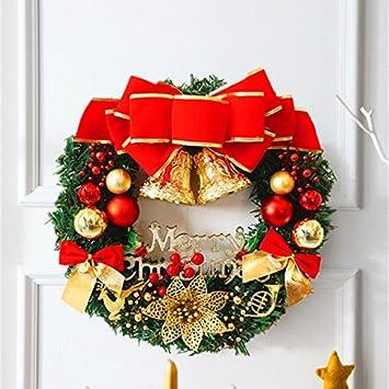 Weihnachtsdeko Für Die Tür.Bunte Weihnachten Garland 30cm Einfache Grüne Weihnachtskranz