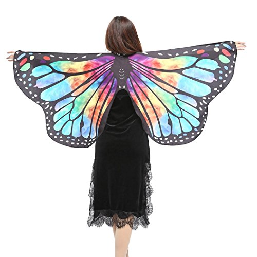 Butterfly Wings, Kemilove Women Butterfly Wings Shawl Scarves Ladies Nymph Pixie Poncho Costume Accessory - Wings Nymph Dark