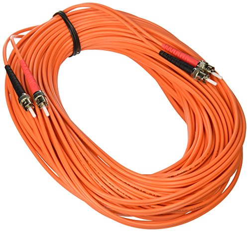 C2G/Cables to Go 10551 ST-ST Duplex 62.5/125 OM1 Duplex Multimode PVC Fiber Optic Cable (20 Meters, Orange) by C2G