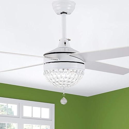 Bella Depot 42″ Modern Crystal Ceiling Fan