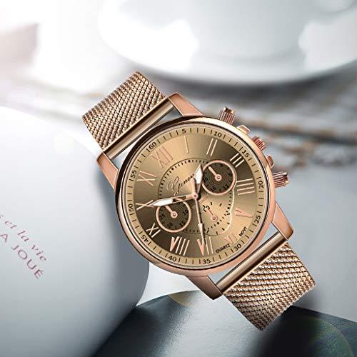 Pocciol Fashion Military Stainless Steel Quartz Watch Womens Casual Watch Luxury Analog Wristwatch (Beige) by Pocciol Cheap-Nice Watch (Image #2)