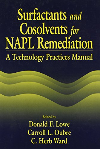 Surfactants and Cosolvents for NAPL Remediation A Technology Practices Manual (AATDF Monograph Series)