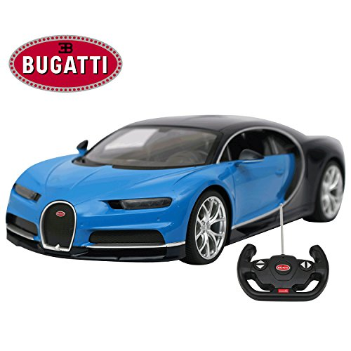 Licensed RC Car 1:14 Scale Bugatti Chiron | Rastar Radio Remote Control 1/14 RTR Super Sports Car Model Blue (Rtr 1 10 Electric Rc Drift Car)