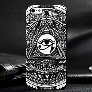 Mini - 3D Black Eye Painting Relievo PC Hard Case for iPhone4/4S