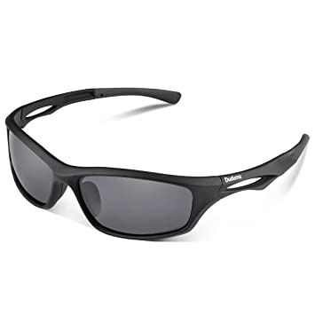 67f52c4d23 Duduma Polarized Sports Sunglasses for Baseball Running Cycling Fishing  Golf Tr90 Unbreakable Frame (black matte frame with black lens)