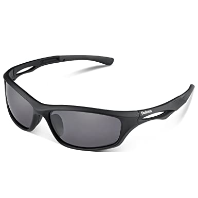 58c60749ef ... Mens Sunglasses for Ski Driving Golf Running Cycling Tr90 Superlight  Frame Design for Mens and Womens (black matte frame with black lens)  Amazon .co.uk  ...