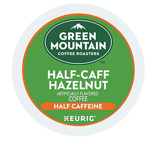 Green Mountain Coffee Roasters Half-Caff Hazelnut Coffee Box of 18 Keurig K-Cup Pods (2 Boxes)