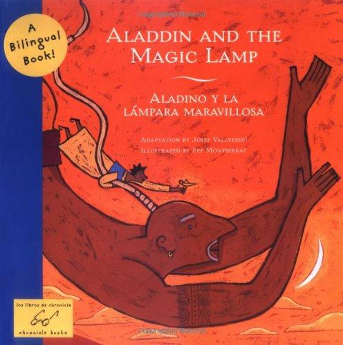 Aladdin And The Magic Lamp Aladino Y La Lampara Maravillosa Bilingual Fairy Tales Josep Vallverdu Pep Montserrat 9780811850629 Amazon Books