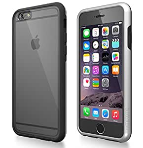 iPhone 6 Case, MOTOMO [Silver] [INO Quattro] iPhone 6 (4.7 inch) Case Clear Front and Back [Dual Layer] [Clear PC Screen Protector] Protective TPU/PC Dual Layer Structure + Crystal Clear PC Hard Panel Screen Protector for iPhone 6 (4.7 inch) - Retail Packaging - Black/Silver (116PCIQTR-BK/SI)