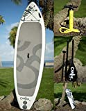 Asana SUP Yoga Best Inflatable Stand Up Paddleboard Combo Gray and White