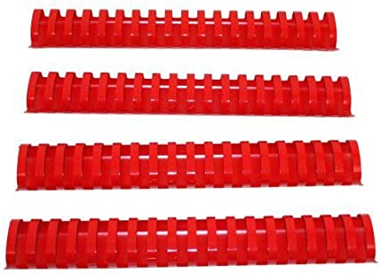 1-1//2 Red Plastic Binding Combs 50pk