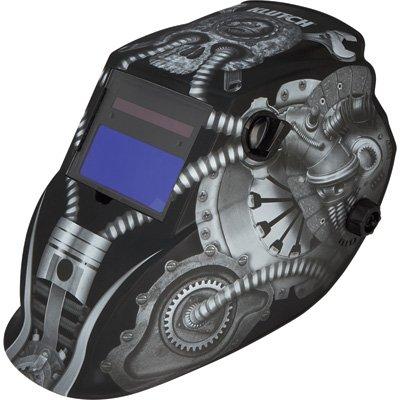 Klutch Variable-Shade Auto-Darkening Welding Helmet with Gri