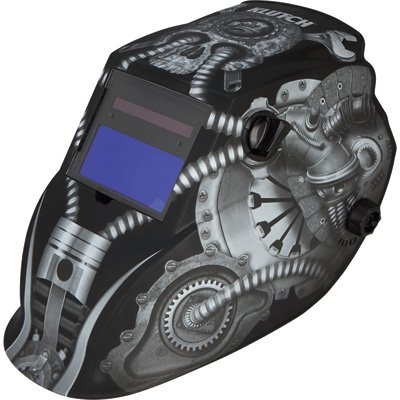 Klutch Variable-Shade Auto-Darkening Welding Helmet with Grind Mode - 700 Series, Matte Gray Metal