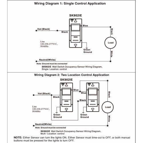 3 Way Occupancy Sensor Wiring Diagram