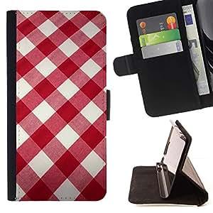 For Samsung Galaxy J3(2016) J320F J320P J320M J320Y Case , Blanco modelo de la tela roja- la tarjeta de Crédito Slots PU Funda de cuero Monedero caso cubierta de piel