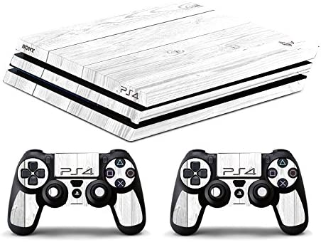 Skin PS4 PRO HD - TEXTURA BLANCO DE MADERA - limited edition DECAL COVER ADHESIVO playstation 4 SLIM SONY BUNDLE: Amazon.es: Videojuegos