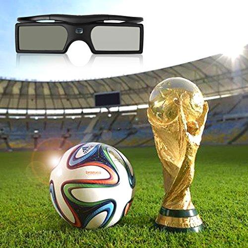 2 PACKS of 3D Bluetooth Shutter Glasses for Panasonic TC-L42ET5 TC-P42UT50 TC-P50ST50 TC-50GT50 TC-L47WT50 TC-L47DT50 TC-L47DT50 TC-P50XT50 TC-L47ET5 TC-P50UT50 TC-P55ST50 TC-P55GT50 3D TVs Black