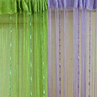 BEESCLOVER 6 Colors New Dew Drop Beaded Fly Insect Panel Room Divider Hanging String Door Curtain Strip Screen