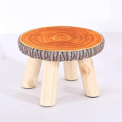 Astounding Amazon Com Round Small Footstool Short Padded Ottoman Alphanode Cool Chair Designs And Ideas Alphanodeonline