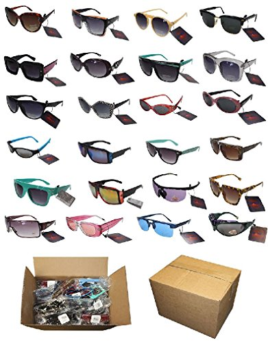 Lot 144 Piece Assortment Sunglasses Mixed Mens Ladies Unisex 100% UV