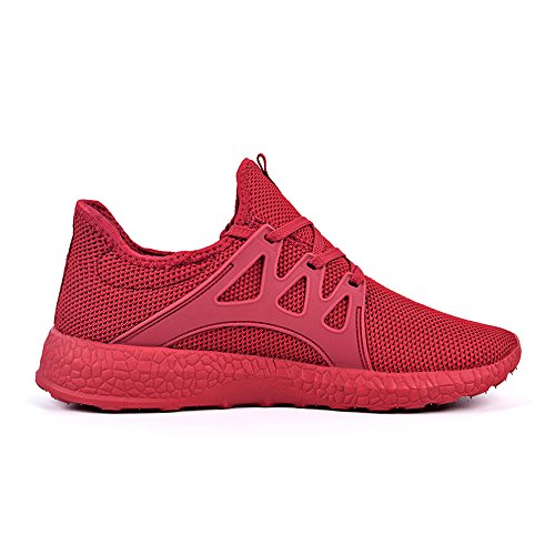 Feetmat Womens Sneakers Ultra Lightweight Breathable Mesh Athletic Running Shoes Plus Size 8.5 Red