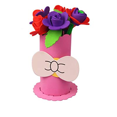 YouCY DIY Flower Pot Kits Creative Educational Toy Festival Handmade Crafts for Little Girls Boys Gift,Pink: Arts, Crafts & Sewing