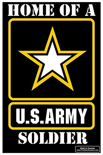 """Home of a US Army Soldier Outdoor Star 12"""" x 18"""" Yard Sign - Lawn Sign w/ Metal Stake"""