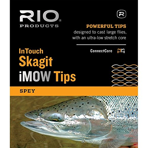 RIO Fly Fishing InTouch Skagit iMOW,Light Tip, 7.5' INT/2.5' T-8 Fishing Line, Black/Trans White