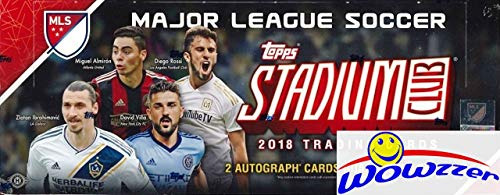 2018 Topps Stadium Club MLS Soccer MASSIVE Factory Sealed HOBBY Box with TWO(2) AUTOGRAPHS!