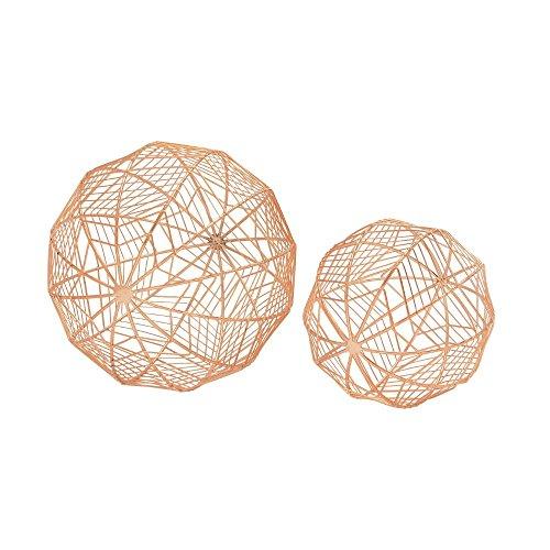 UMA Deco 79 54717 Metal Wire Orb Copper Set of 2