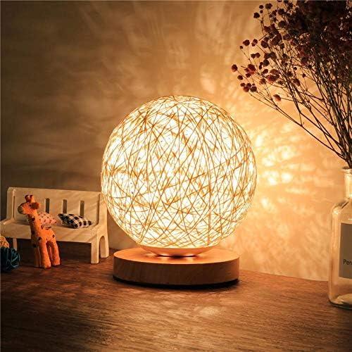 WEIFENG Einfache Nachtlampe Nachtlampe Lampe Rattan Ball Tischlampe