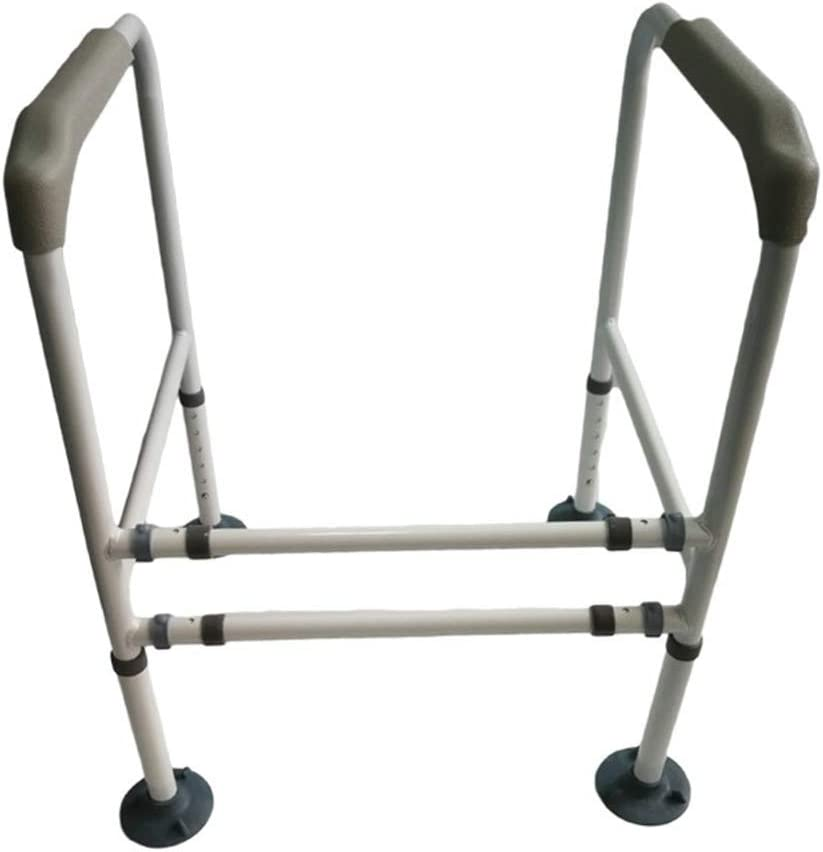 Bathtub Toilet Safety Rail Adjustable Grab Bar Compact Support Frame Balance Handles for Elderly and Handicap Bathroom Aid and Handrail