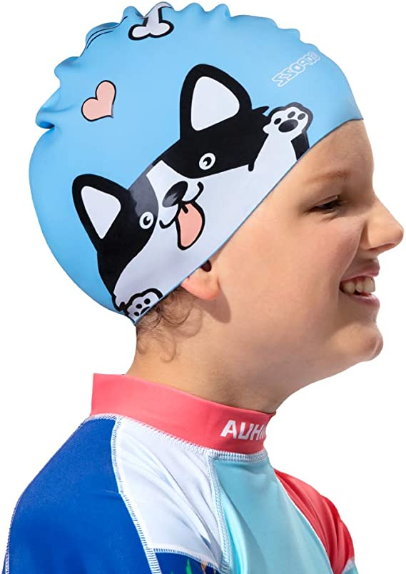 CHEX Silicone Abstract 8 Years Junior Senior Strong Swimming Cap Swim Hat 2020