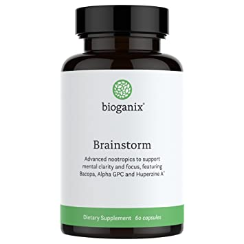 Brainstorm Brain Support Supplement with DMAE, Ginkgo Biloba, Rhodiola, Bacopa & More|