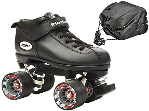 Riedell Dart Vader Quad Roller Derby Speed Skate Bundle w/